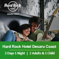 New Sun-tastic Getaway 2 Days 1 Night - 2 Adults & 2 Children - Hard Rock Hotel Desaru Coast
