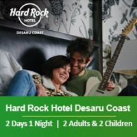 Sand-sational Deal Weekday 2 Days 1 Night - 2 Adults & 2 Children - Hard Rock Hotel Desaru Coast