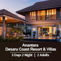 New Sun-tastic Getaway 3 Days 2 Nights - 2 Adults & 1 Child - Anantara Desaru Coast Resort & Villas