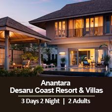 New Sun-tastic Getaway 3 Days 2 Nights - 2 Adults & 1 Child - Anantara Desaru Coast Resort & Villas