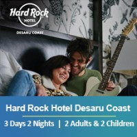 New Sun-tastic Getaway 3 Days 2 Nights - 2 Adults & 2 Children - Hard Rock Hotel Desaru Coast